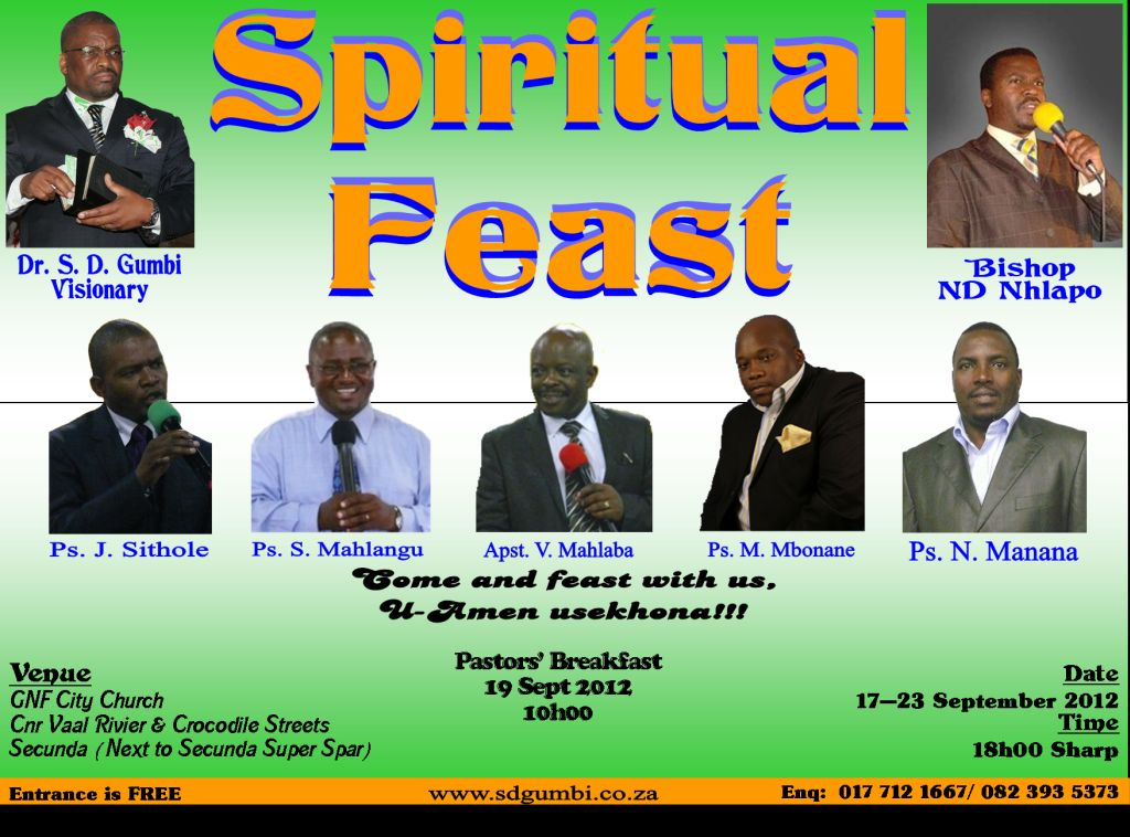 Good Oasis City Church #1: Spiritual%20Feast%20Hosted%20by%20Bishop%20ND%20Nhlapo%20GNF%20City%20Church.jpg